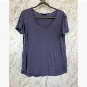 Aritzia Talula blue/purple tee shirt - large